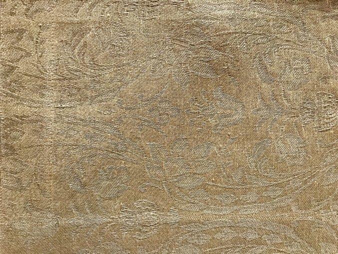 Prostírání na stůl lněné 50x35, zlatá barva