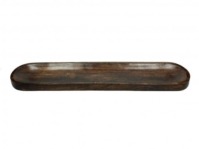 Tác dřevěný v tmavě hnědé barvě