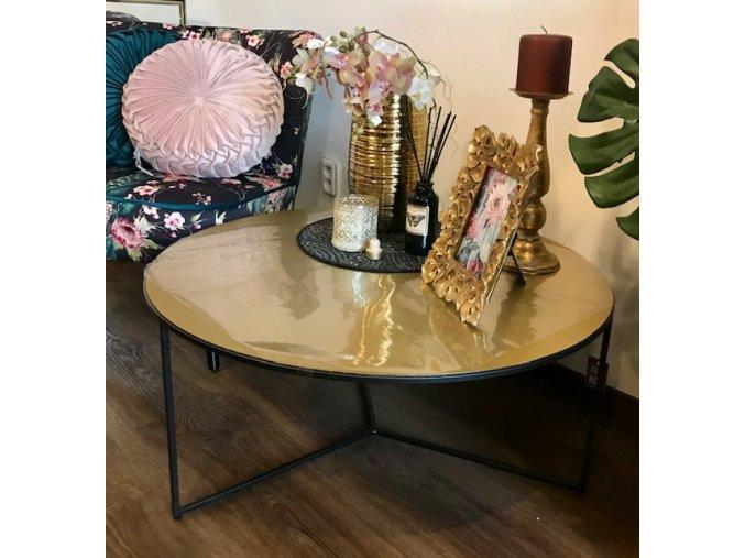 stolek-kulaty-corinthia-z-cerneho-kovu-a-deskou-v-mosazne-barve-80cm
