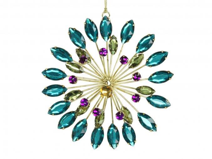 vanocni-ozdoba-kvetinovy-ornament-tyrkysovy