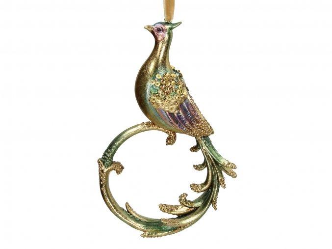 vanocni-ozdoba-ptacek-zlaty-15cm