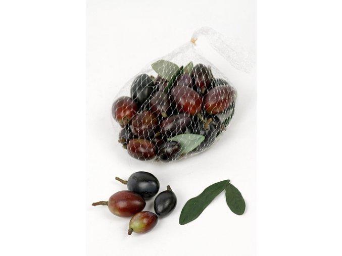 Umělá dekorace - Olivy černé