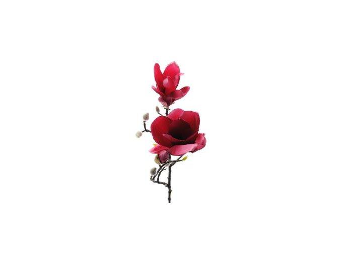 umela-kvetina-magnolie-tmave-ruzova