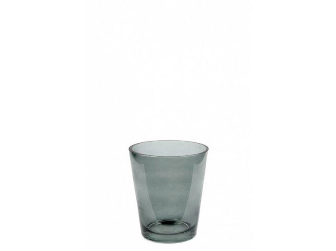 Váza zelená skleněná malá