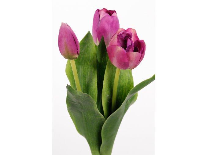 umela-kvetina-tulipan-ruzovo-fialovy-mix