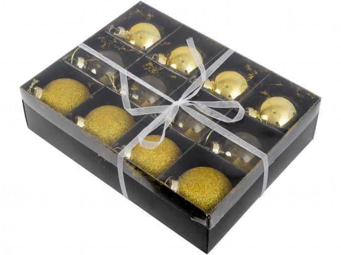 vanocni-ozdoba-box-12-ti-zlatych-kulicek