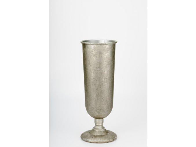 Váza plechová stříbrnošedá