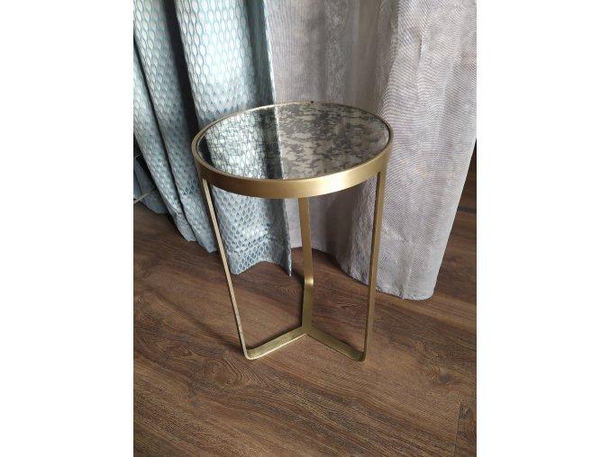 stolek-zlaty-zrcadlovy-kulaty-ross--30cm