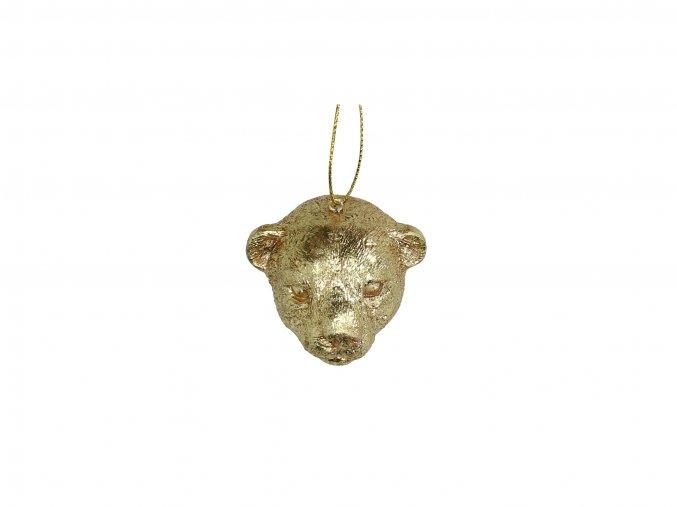 vanocni-ozdoba-hlava-leoparda-zlata