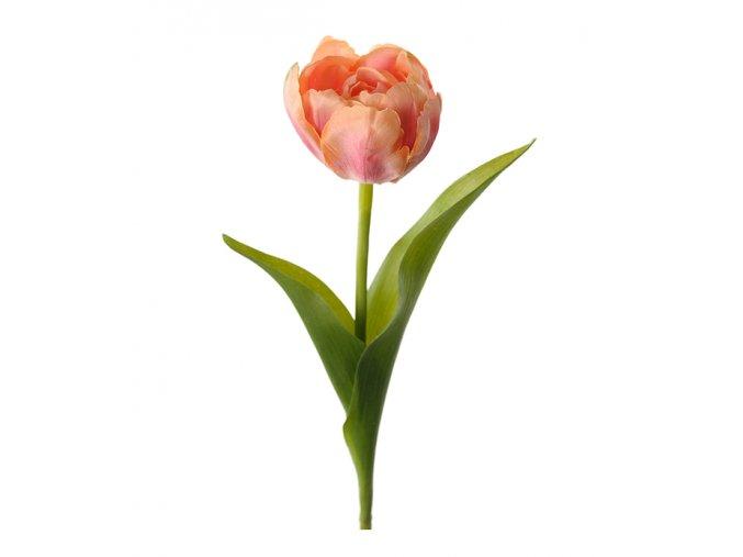umela-kvetina-tulipan-lososovy-bohaty