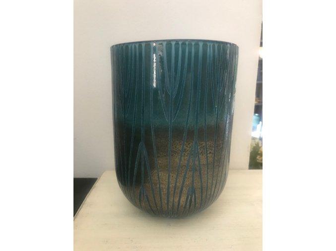 vaza-sklenena-modrobronzova-ambra-26cm