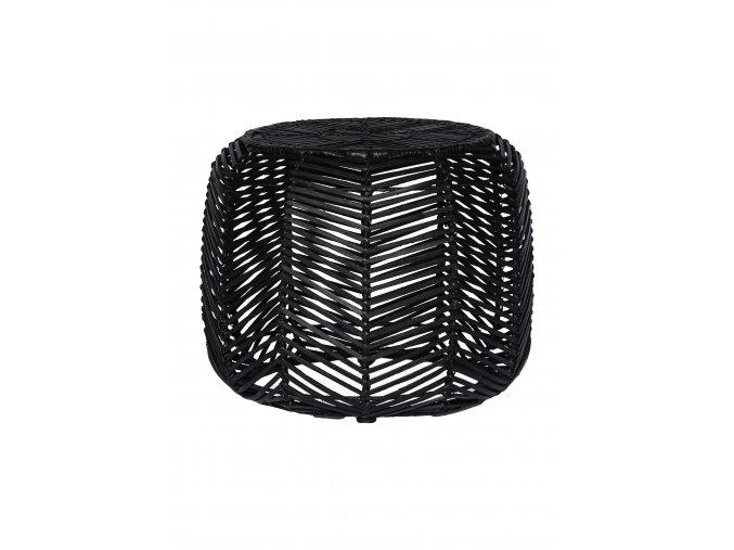 ratanovy-taburet-stolek-cerny
