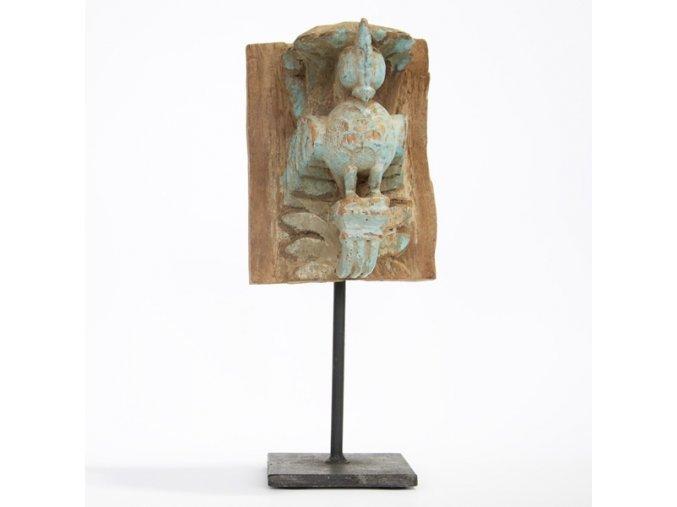 Dřevěná dekorace Páv