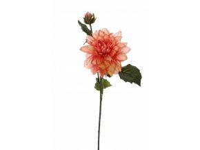 Umělá květina - Jiřina w/ sv.růžová