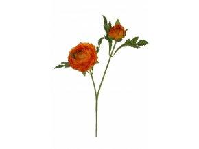 Umělá květina - Pryskyřník malý oranžový