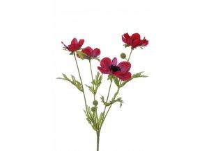 Umělá květina - Sasanka růžová x4