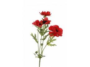 Umělá květina - Sasanka červená x4