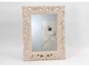 Nástěnné zrcadlo Baroque krémové, zdobený rám