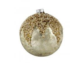 Vánoční koule perleť/zlatá