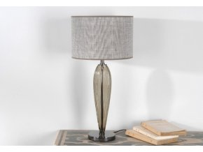Stolní lampa skleněná, šedé sklo