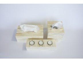 Krabice na kapesníčky bílá krychle