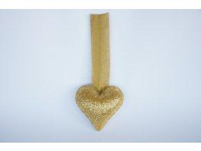 Ozdoba, Srdce se zlatými korálky