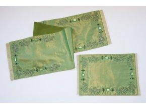 Zdobné zelené prostírání