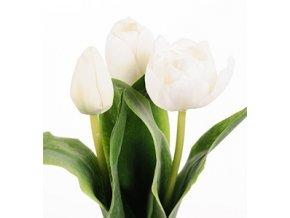 umela-kvetina-tulipan-bily-mix