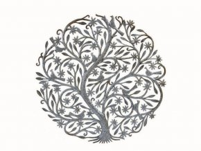 Dekorace na zeď -plastika kvetoucí strom života 85cm
