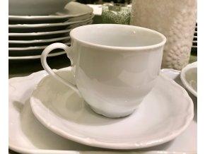 Šálek porcelánový na kávu s podšálkem
