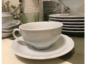 Šálek na čaj porcelánový s podšálkem