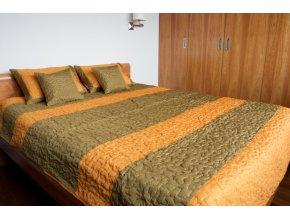Hedvábný set na postel hořčicový