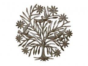Dekorace na zeď - plastika strom života/ptáci 60cm