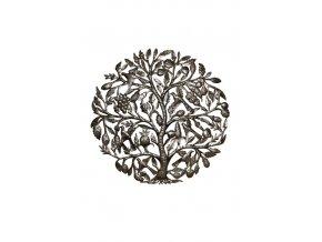 Dekorace na zeď - Plastika hroznový strom života 85 cm (6 ptáčků)
