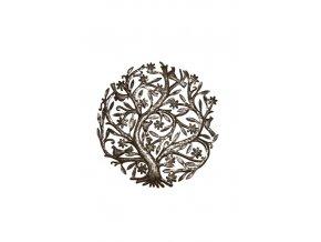 Dekorace na zed´- Plastika kvetoucí strom života 60cm (5 ptáčků)