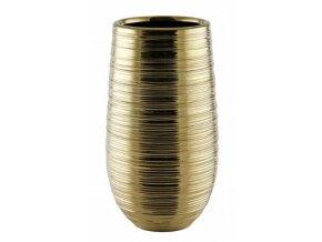 Váza Floris zlatý lesk