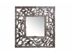 Nástěnné zrcadlo s tepaným rámem, čtvercové, 30cm