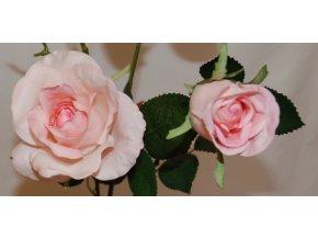 Umělá květina - Růže světle růžová