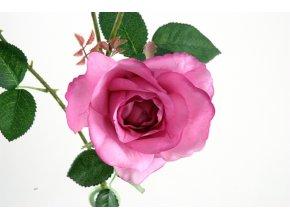 Umělá květina - Růže fialováUmělá květina - Růže tmavší růžová
