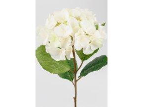 Umělá květina - Hortenzie bílá