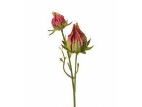 Umělá květina - Růžový pupenec