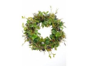Umělá dekorace - Borůvkový věnec