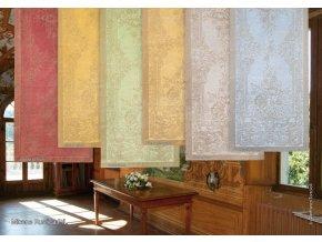 Běhoun na stůl lněný 50x150 zelenohnědá barva