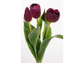 Umělá květina - Tulipán mix bordo