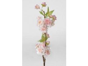 Umělá květina - Jabloňová větvička růžová