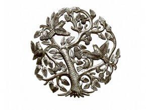 Dekorace na zed´ - Plastika strom života 36cm