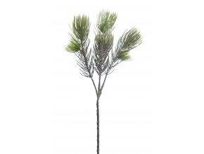 umela-dekorace-vetvicka-stribrne-borovice-55cm