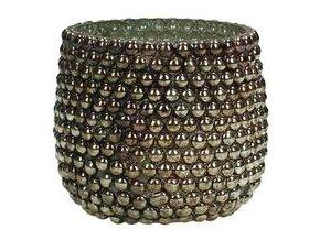 Svícen na čajovou svíčku zlaté sklo 7x7x7