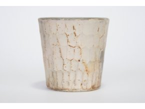 Svícínek sklo metalíza, vzor plásty