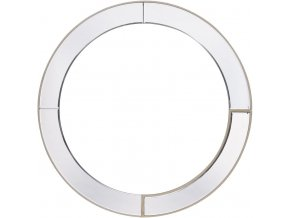 Nástěnné zrcadlo kulaté, R=80 cm, zlatá linka